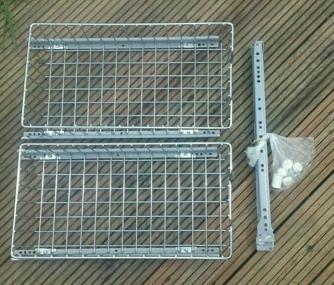 Set of 2 B&Q Kitchen pull out/sliding metal kitchen drawer basket ...