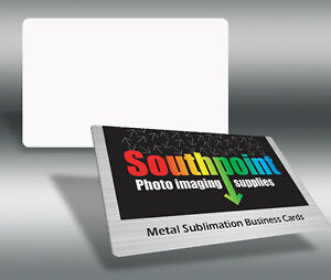 Sublimation metal business card blanks 100 pack ebay for Blank metal business cards