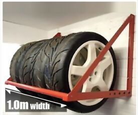 Wheelpod Wall Mounted Wheel/Tyre Rack 1.0 Metres long