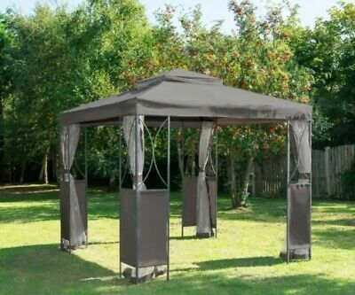 Grey Luxury Metal Framed Gazebo 2.5m X H2.6