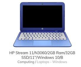 "hp blue 11"" laptop"