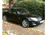 Mazda MX 5 Sports Convertible. Black. 2 owners. Service history. Very low milage.