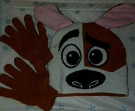 4-5 years hat + gloves