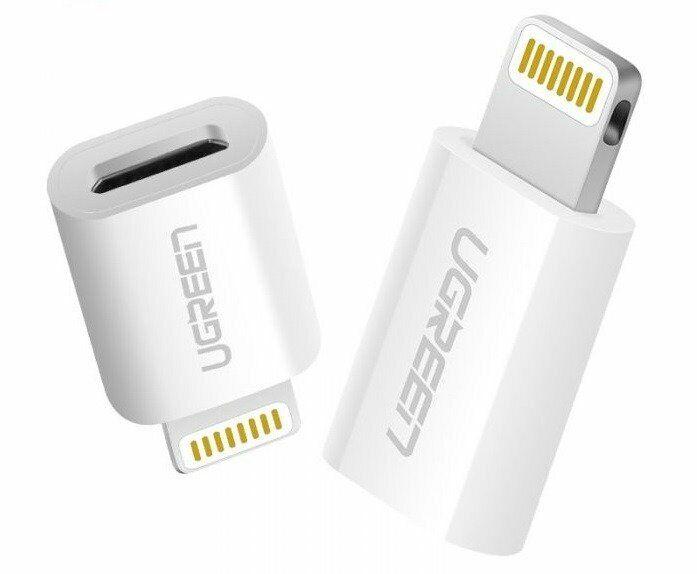Ugreen Adattatore Lightning MFi a Micro USB 2.4A 480Mb/s - Bianco