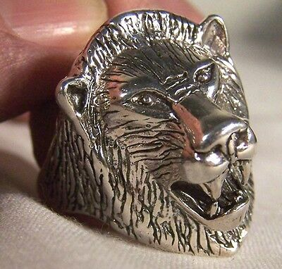 Lion Head Biker Ring Br11 Heavy Unique Style Tiger Novelty Fashion Jewelry