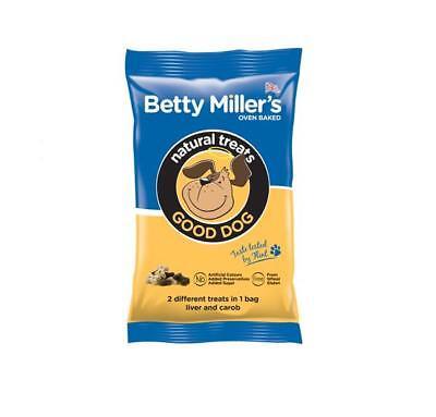 Betty Millers GOOD Dog Puppy Natural Mini Bones Liver Carob Biscuits Treats 100g Dog Liver Bones