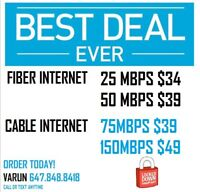 HIgh SPEED UNLIMITED INTERNET CABLE TV HOMEPHONE