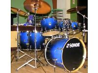 6 piece Sonor Force 2007 shell pack(no snare,cymbals, pedals or hardware)
