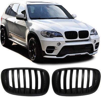 Sport Nieren Kühlergrill schwarz matt für BMW X5 E70 07-13