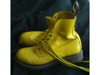 Yellow doc martens