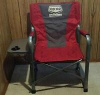 Camping Chair with attached folding table