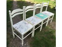 SET OF 4 SHABBY CHIC / up cycled Style Chairs