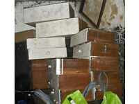 Victorian wooden drawers (12) and other wood offcuts