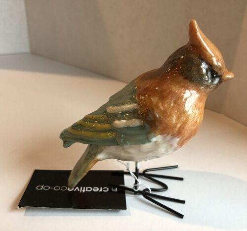 Creative Co-Op Bird Figurine w/Glazed Enamel Finish New with Tag