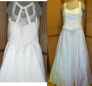 XL XXL WEDDING GOWN Size 20 cost $2500 Halter Beads Train EXCELLENT Smoke-free Clean fresh 90%off retail worn once