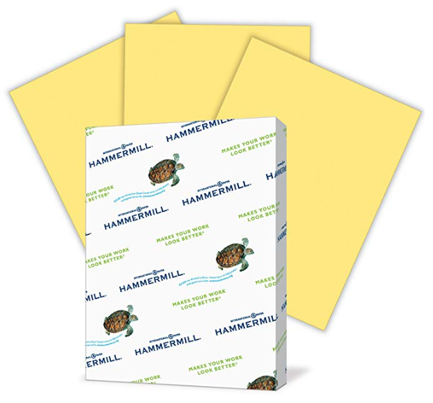 Buff Printer Copy Paper 8.5x11 Paper 500 Sheets 1 Ream Brigh