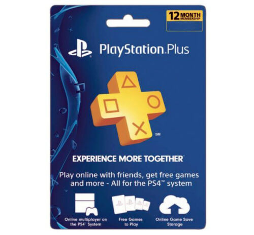 Sony PlayStation Plus 1 Year Membership Subscription Card (USA Region)