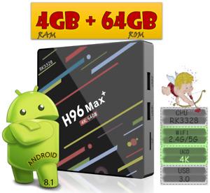 ANDROID TV BOX H96 MAX+ 4GB/64GB DUAL-BAND WIFI USB 3.0 RK3328