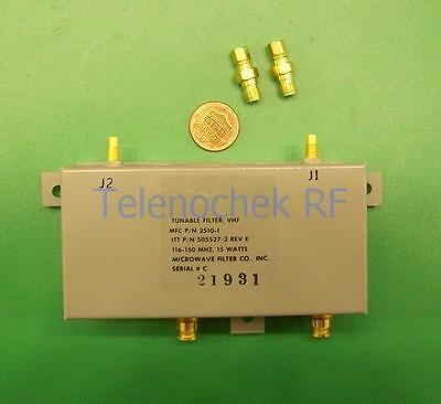 Vhf Uhf Rf Tunable Bandpass Filter Bpf 90-150 Mhz 200khz Bw Power 15watt Data