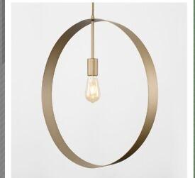 Gold ceiling light ( New )
