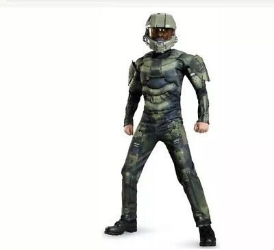 Master Chief Costume For Kids (Halo: Master Chief Muscle Costume For Kids - M)