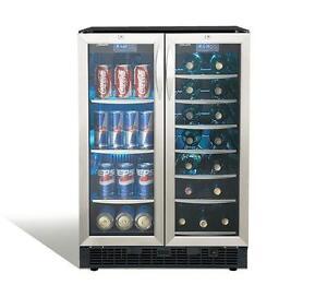 Centre de boissons noir Danby, 2 zones de refroidissements