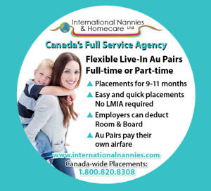 Full service Au Pair & Nanny placements and LMIA service