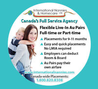 Full service Nanny & Au Pair placements and LMIA service
