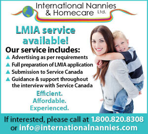 We provide LMIA service and full Nanny/Au Pair placements!