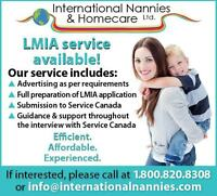We help with the LMIA paperwork for your nanny/caregiver