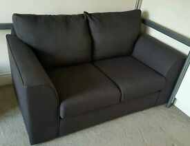 Grey / Black 2 seater Sofa Like NEW