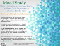 U of R stress and recurrent depression study