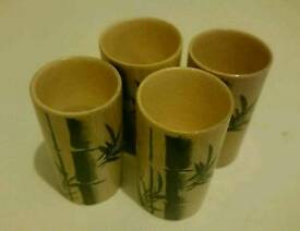 Bamboo shot glasses