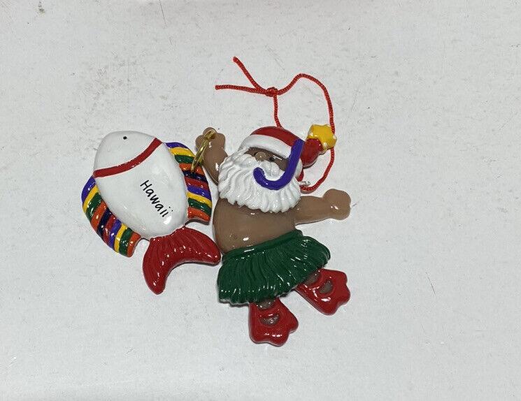 Vintage Hawaiian Poi People Christmas Ornament Joseph K. Fish Snorkeling