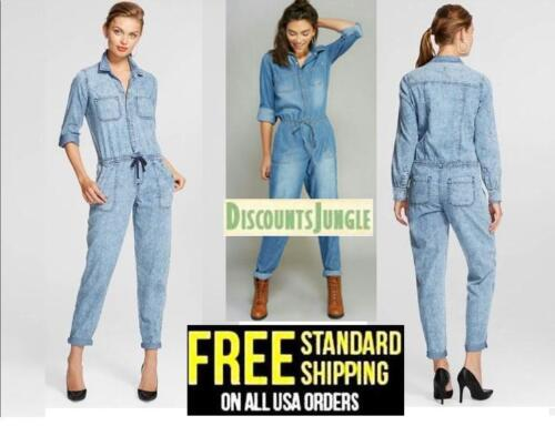 dollhouse Womens Roll Sleeve Drawstring Waist Light Denim Blue Jumpsuit Rompers