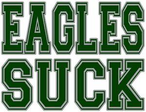 saying eagles suck Redskin fans
