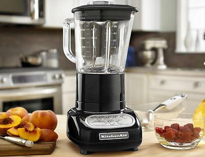 KitchenAid 5-Speed Blender 48oz Glass Jar r-KSB565ob Onyx Black 0.9 HP motor