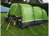 Hi-gear aura 3, 3 man tent with porch, ground sheet and carpet