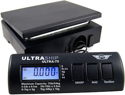 Myweigh Ultraship 75 Package Scale Black Up To 75lbs Letter Rollenwaage