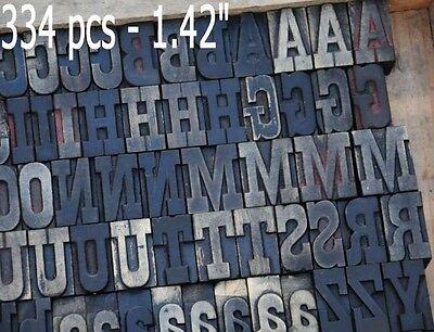 Letterpress Wood Printing Blocks 334pcs 1.42 Tall Alphabet Type Wooden Type Abc