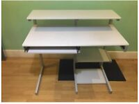 Used Cream Computer Wooden & Metal desk table
