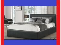 BRAND NEW RADO LEATHER BED + FREE OPEN COIL MATTRESS + FREE DELIVERY