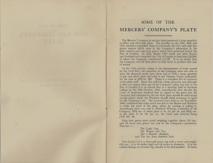 Antique English Silver : the Mercer