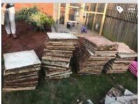 75 garden slabs