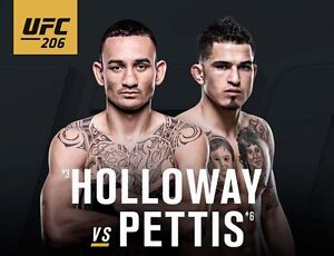 2 UFC 206 tickets for $100 each. Section 320, Row 1, Seats 5-6.