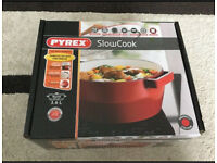 Pyrex Slow Cook 4936877 Casserole Pan Round 3.6 L Cast Stainless-Steel Red