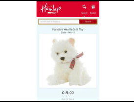 Hamleys soft toy - A dog is not only for Christmas!