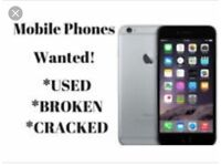 Phones wanted broken used or cracked
