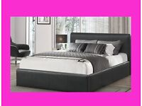BRAND NEW RADO LEATHER BED + FREE OPEN COIL 7 INCH MATTRESS + FREE DELIVERY
