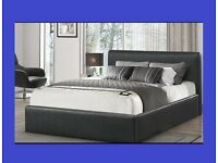 BRAND NEW RADO LEATHER BED + FREE ECO 7 INCH MATTRESS + FREE DELIVERY
